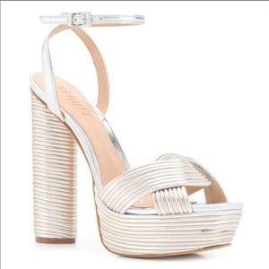 Schutz metallic platform sandal